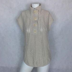BCBG Maxazria Sweater turtleneck short sleeve wool